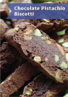 Chocolate Pistachio Biscotti – Make at your own risk! This is a delicious dessert you won't want to share after just one bite.