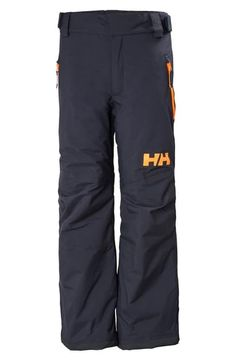 Helly Hansen Kids' Legendary Waterproof Primaloft Insulated Snow Pants In Navy Snow Pants, Helly Hansen, Big Boys, World Of Fashion, Luxury Branding, Parachute Pants, Children, Kids, Thighs