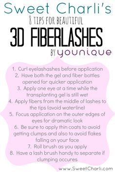 https://www.youniqueproducts.com/keriG/party/242731/view Younique 3D Fiber Lash Mascara Review 8 Tips for Application