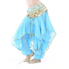 AmazonSmile: BellyLady Belly Dance Harem Pants Bollywood Arabic Dance Tribal Costume Pants BLACK: Clothing