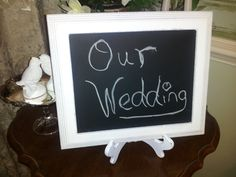 Shabby Chic Wedding Chalkboard with Easel by WhimsicalLoveBirds, $19.95