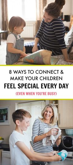 Simple Ways to Find Time to Connect With Your Kids Every Day. Make your children feel special & important by using small windows of one-on-one time every day - even when you're busy!
