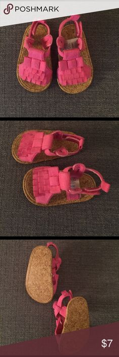 Hot pink baby sandal Like new; excellent condition, size 0-3 months Shoes Sandals & Flip Flops