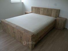 Marktplaats tweepersoons bed steigerhout bed kast