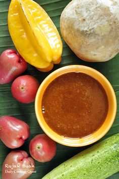 Rujak Buah – Fruit with Spicy Palm Sugar Sauce