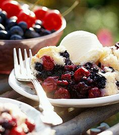 Recipe for Berry Easy Cobbler - Home made Berry Easy Cobbler, use your favorite berries for this or mix in all your favorites!