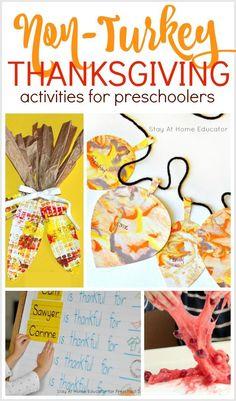 15 Non-Turkey Thanksgiving Activities for Preschoolers