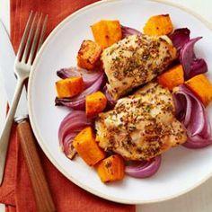 Roast Chicken & Sweet Potatoes Recipe