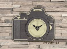 Handmade Camera wooden clock. Worldwide Shipping. Available in: www.woodentek.etsy.com …. #35mm #all_shots #Camera #canon #canon_photos #canon6d #canonphotography #click #coolpix #d750 #dslr #eos #foto #image #nikon #nikond3200 #nikonphotography #nikontop #Pentax #photo #photograph #Photographer #Photographie #photography #photos #picture #Sony #studio #teamcanon #Gift #GiftIdea #WishList #Gifts