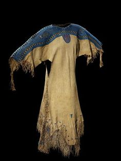 Woman's dress, circa 1855, probably Sihasapa Lakota (Blackfoot Sioux), South Dakota, USA.