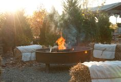 around the fire pit - this is what I dream of. An acreage in the hills.. lots of space for entertaining.