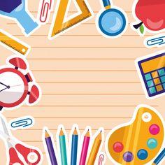 Back to school supplies frame background Free Vector Art Drawings For Kids, Art For Kids, School Chalkboard Art, Teacher Cartoon, Owl Cartoon, School Border, School Frame, Powerpoint Background Design, Free Frames
