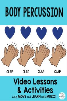 Music Lesson Body Percussion Activities, Worksheets