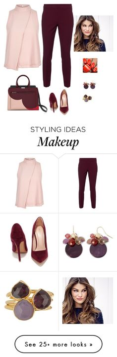 """Untitled #742"" by azra-99 on Polyvore featuring River Island, RED Valentino, Shoe Republic LA, ULTA, Mixit and Janna Conner"