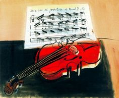 Raoul Dufy, the red violin, El violin rojo, 1948