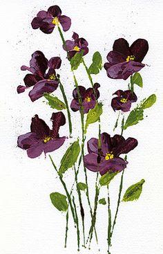 Art du Jour by Martha Lever: More Credit Card Flowers