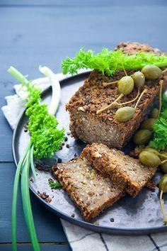 lentil loaf, pain de viande vegan, cuisine végétale, végétalienne                                                                                                                                                                                 Plus