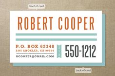 Steelfish Business Cards by Smudge Design at Minted.com
