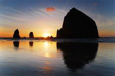 Haystack Rock.  I love the Oregon Coast.