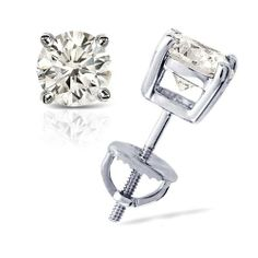 1/2 cttw Round Diamond 4-Prong Stud Earrings Platinum with Screw Backs (H-I Color, SI1-SI2 Clarity) Banvari. $963.50. Made in USA, comes with a FREE certificate of authenticity.. This product comes with a FREE Luxurious Cherrywood Gift Box.. Free Priority Shipping and 30-day money back guarantee.. All our gold items are responsibly sourced and the majority is made from environmentally processed recycled gold.. All diamonds used in our jewelry are conflict free and 100...