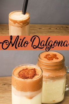 How To Make Milo Dalgona Without Mixer ( Using Wire Whisk ) Easy Milo Dalgona Recipe Using Wire Whisk, But you can also use dinner Fork and Electric Mixer. Milo Dalgona is made of Milo (Chocolate Powdered Milk) , Sugar and All Purpose Cream added with fresh milk and Ice. #howtomakemilodalgona #milodalgona #dalgona Caldereta Recipe, Beef Caldereta, Donut Recipes, Pork Recipes, Donut Recipe Without Yeast, Graham Cake, Spicy Seafood Recipes, Wire Whisk, Easy To Make Desserts