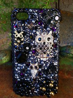 Gorgeous Black Owls iPhone 4/4s case by Kianaskases on Etsy, $74.00