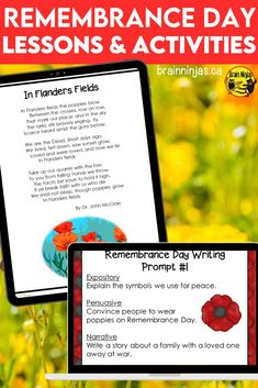 Take your students beyond the poppy by learning about Canadians and the impact of war on their lives with these lessons and activities designed for the upper elementary classroom. They are perfect for Remembrance Day, but you can incorporate them into your social studies lessons any time of year. Come check them out and get your planning done in a snap. Flanders Field, Remembrance Day, Upper Elementary, Social Studies, Poppy, Brain, Singing, Students, Classroom