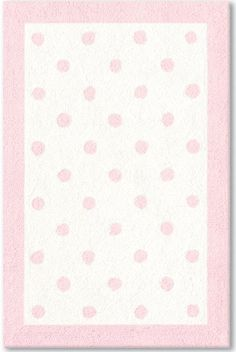 The Rug Market America Baby Polka Dots Pink (11408) Area Rugs - would be super cute in green - would help bring in their dot curtains.