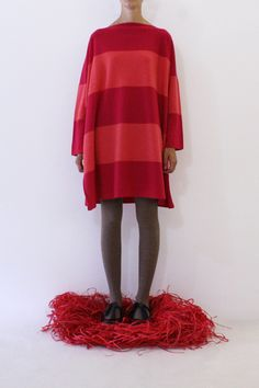 Daniela Gregis tris dress big stripes