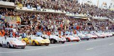 La grille de départ des 24 heures du Mans 1966