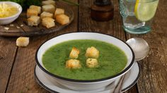 this easy, but great tasting broccoli and cheese soup recipe gets its flavours from the stock and its great texture by adding in a few potatoes. Soup Recipes, Dinner Recipes, Cheesy Rice, Creamed Potatoes, Sweet Potato Wedges, Tasty, Yummy Food, Broccoli And Cheese, Cheese Soup