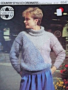 bac35894495 Details about Vintage   retro knitting pattern Sirdar 6547 ladies roll neck  sweater