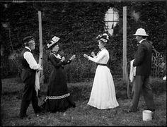This intriguing photograph of a boxing match between two women is part of a collection acquired from the estate of Raymond W. Phillips, a descendent of Arthur J. Phillips, a late nineteenth century Sydney assayer and gold refiner who is thought to have been the photographer.