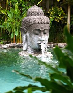 Bali Buddha water feature