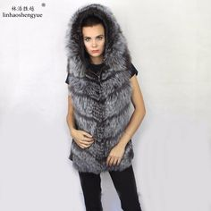 Linhaoshengyue  Shop promotion  Real silver fox fur vest   silver fox fur. Yesterday's price: US $200.00 (164.66 EUR). Today's price: US $100.00 (82.33 EUR). Discount: 50%.