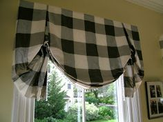 I am going to give you some tips and secrets on how to make ready made panels look like custom. But first I want to show off some window t... Custom Curtains, Drapes Curtains, Curtain Valances, Plaid Curtains, Blackout Curtains, Window Coverings, Window Treatments, Cortinas Country, Buffalo Check Curtains