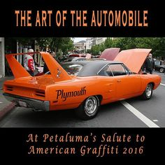 I did promise MORE muscle cars...So, here's a 1970 PLYMOUTH ROADRUNNER SUPERBIRD! In all it's glorious ORANGE  and BLACK!  Photographed at the Petaluma's Salute to American Graffiti a couple of weeks ago. Very rare and  so cool! #plymouth #plymouthroadrunner  #roadrunner #superbird #carsofinstagram #carswithoutlimits #vintagecars #classiccars #carshow #Petaluma #california #classiccar #classic #instacar #mopar #oldcars #theartoftheautomobile  #musclecar