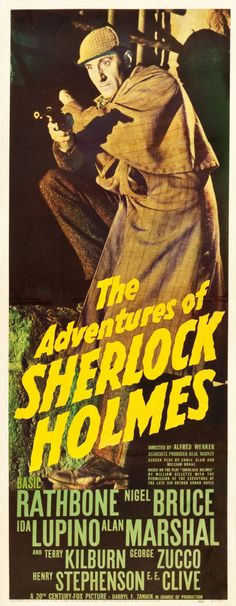 The Adventures of Sherlock Holmes (20th Century Fox, 1939). Basil #rathbone