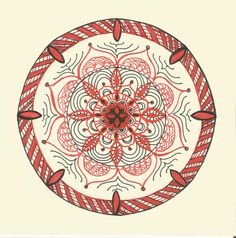 Přání - červená mandala Painting & Drawing, Decorative Plates, Drawings, Paintings, Home Decor, Mandalas, Decoration Home, Paint, Room Decor