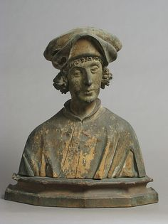 16th century German - Portrait Bust of a Young Man.  Click through to museum for 7 additional images (front, sides, back).