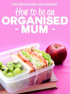 How to be an Organised Mum - The Organised Housewife Organised Mum, Organised Housewife, Recipe Organization, Organization Hacks, Organizing Ideas, Organising Tips, Home Organisation Tips, Organizing Life, Working Mums