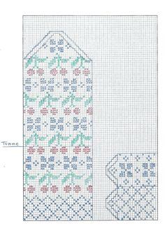 Elisabeth Bjurkell – Dela dina vantar! Fair Isle Knitting Patterns, Knitting Charts, Knitting Stitches, Hand Knitting, Mittens Pattern, Mitten Gloves, Fair Isle Chart, Diagram Chart, Crosses