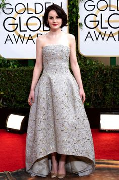 Michelle Dockery in Oscar de la Renta | Golden Globes 2014