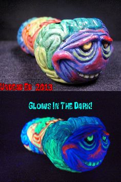 Crazy Hazey Maze Sculpted Hand Blown Glass Pipe By by Zoombiez, $75.00