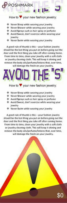 Helpful Jewelry Hints to Make Your Jewelry Last HERE ARE SOME HELPFUL HINTS ABOUT COSTUME TO HELP YOU ENSURE LONG LASTING WEAR!! Jewelry