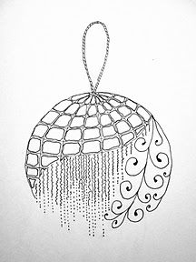 This is beautiful.  I was thinking of making a Zentangle Christmas card this year.