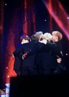 BTS group hug