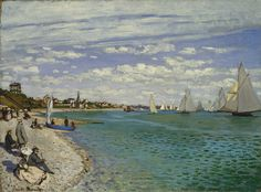 Regatta at Sainte-Adresse, 1867  Claude Monet (French, 1840–1926)  Oil on canvas