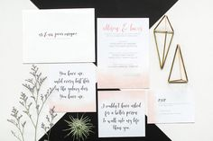 Modern Geometric Wedding Invite | Photo: Bryan Venancio