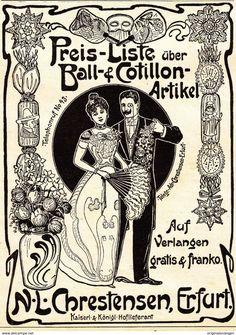 Werbung - Original-Werbung/ Anzeige 1901 - COTILLON - ARTIKEL / CHRESTENSEN - ERFURT - ca. 90 x 120 mm